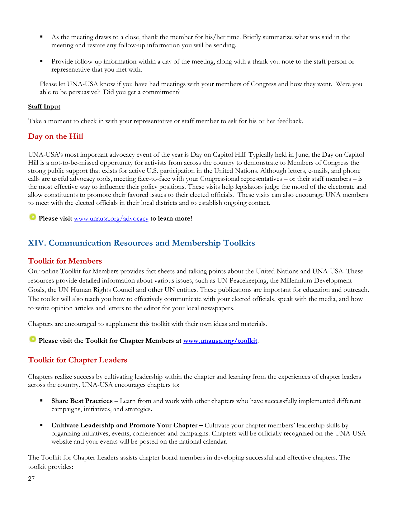 Chapter Handbook - UNA-SoCal