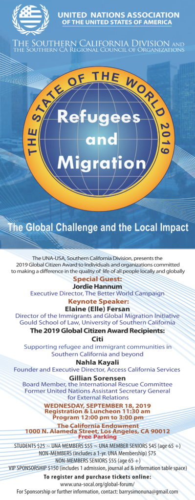 2019 USA-UNA SoCal Global Forum