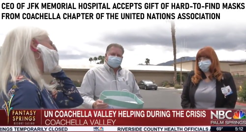 Donation of masks to JFK Memorial Hospital